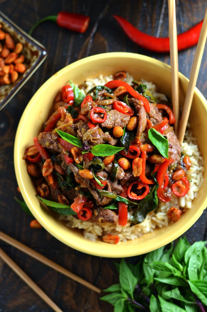 30 minute thai beef stir fry with sriracha roasted peanuts host 30 minute thai beef stir fry with sriracha roasted peanuts this recipe ticks all of forumfinder Image collections