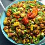 Cornbread Salad with Jalapeño-Browned Butter Vinaigrette