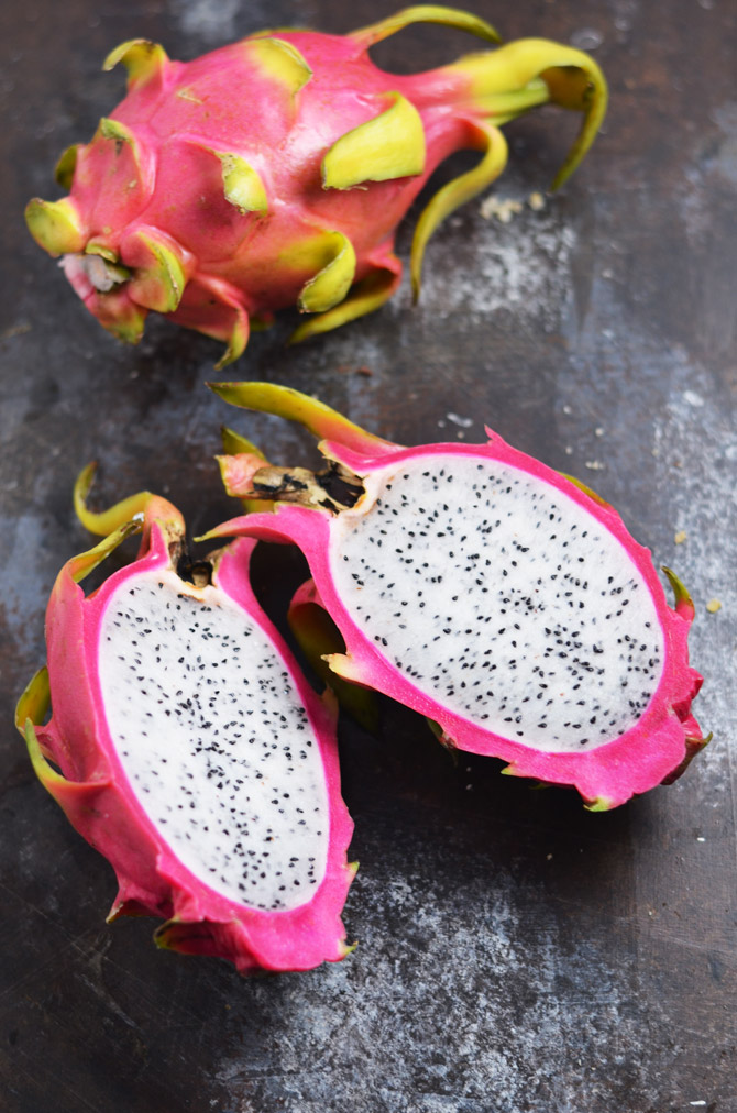 Strawberry Dragon Fruit Margaritas. These vibrant magenta frozen margaritas are just as tasty as they are pretty. You've gotta try 'em. | hostthetoast.com