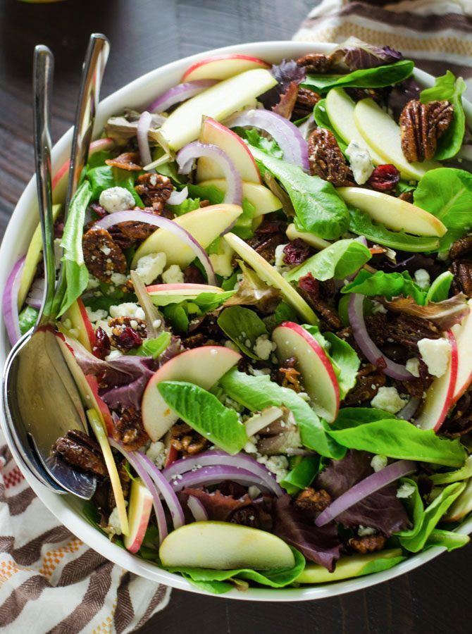Honey Crisp Apple Salad with Cider Vinaigrette