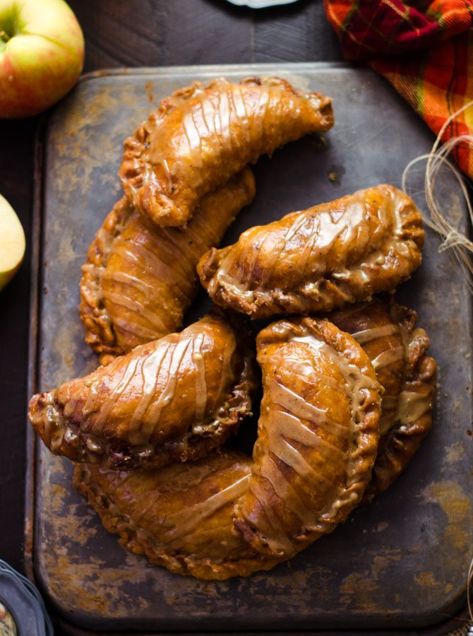 Maple Brown Butter Glazed Amish Apple Fry Pies