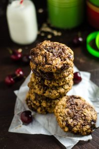 Chewy Cherry Chocolate Chunk Oatmeal Cookies - Host The Toast