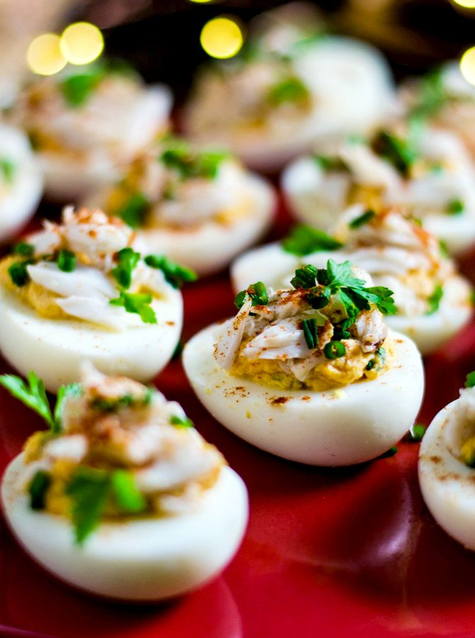 Creole Crab-Stuffed Deviled Eggs