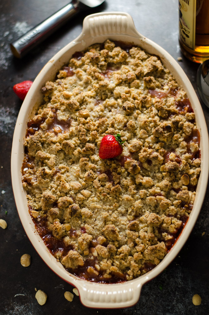 ... Rum Banana Bread With Macadamia Crumb Topping Recipe — Dishmaps