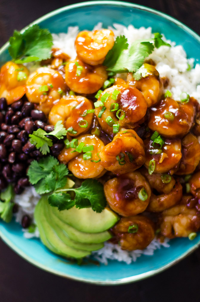 20 Minute Sweet & Sticky Caribbean Shrimp. This tropical-tasting dish is great for weeknight dinners or party appetizers, and owes its hit flavor to a special sweet ingredient!   hostthetoast.com