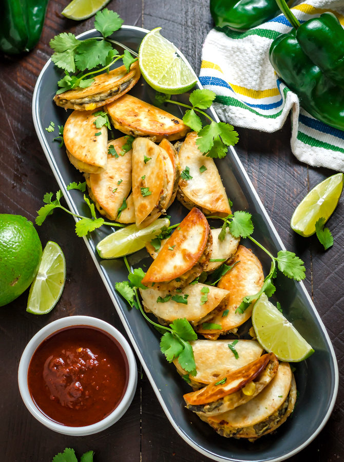Mini Party Poblano Quesadillas