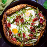 Dutch Baby Pesto Breakfast Pizza