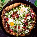 Dutch Baby Pesto Breakfast Pizza