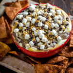 Salted Caramel S'more Dip with Cinnamon Sugar Chips