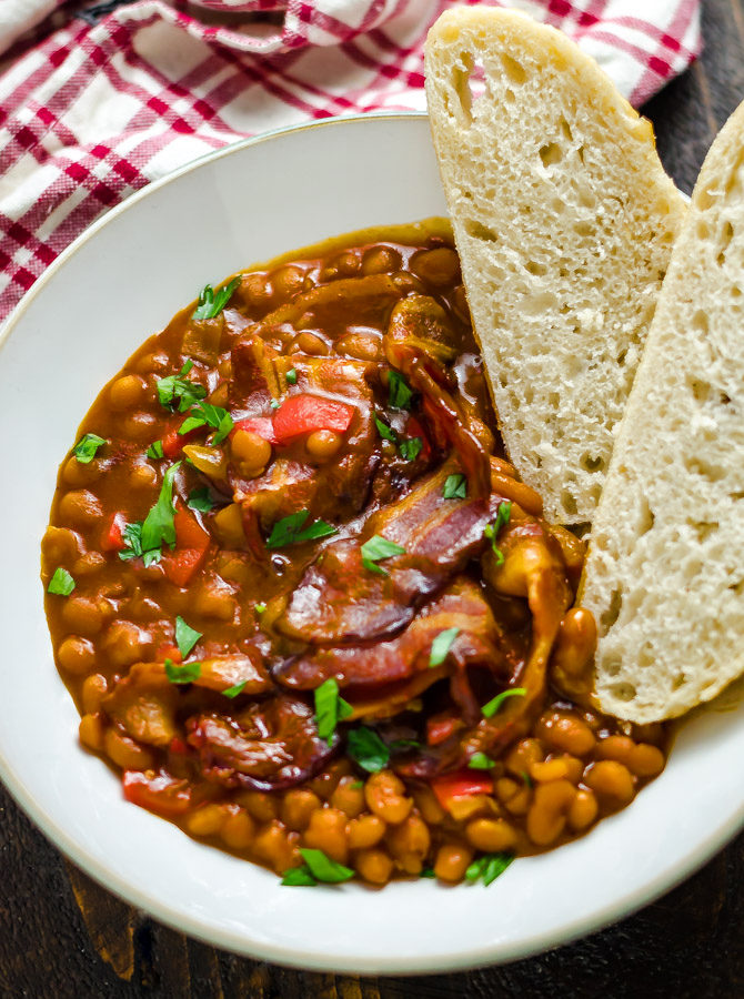 Easy BBQ Bacon Baked Beans