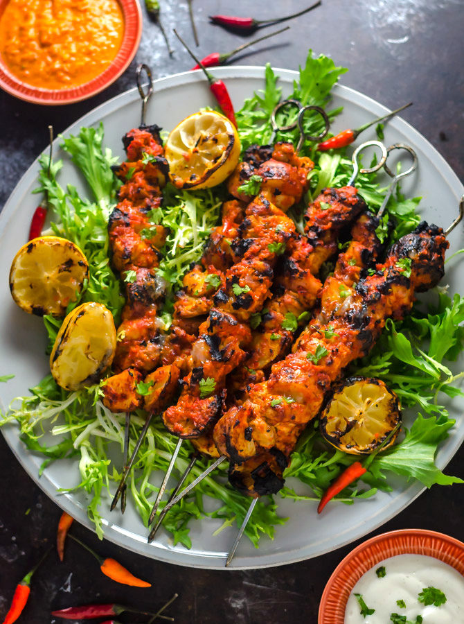 Piri Piri Chicken and Potato Skewers