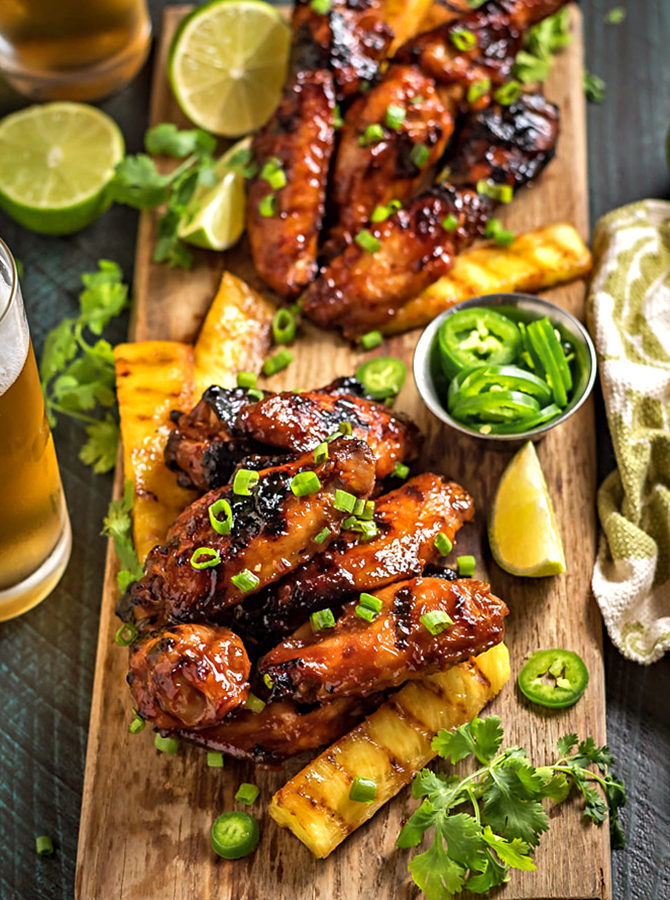 Hawaiian Huli Huli Grilled Chicken Wings
