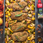 Sheet Pan Maple Pecan Crusted Chicken & Roasted Vegetables