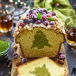Amaretto-Matcha Christmas Surprise Cake