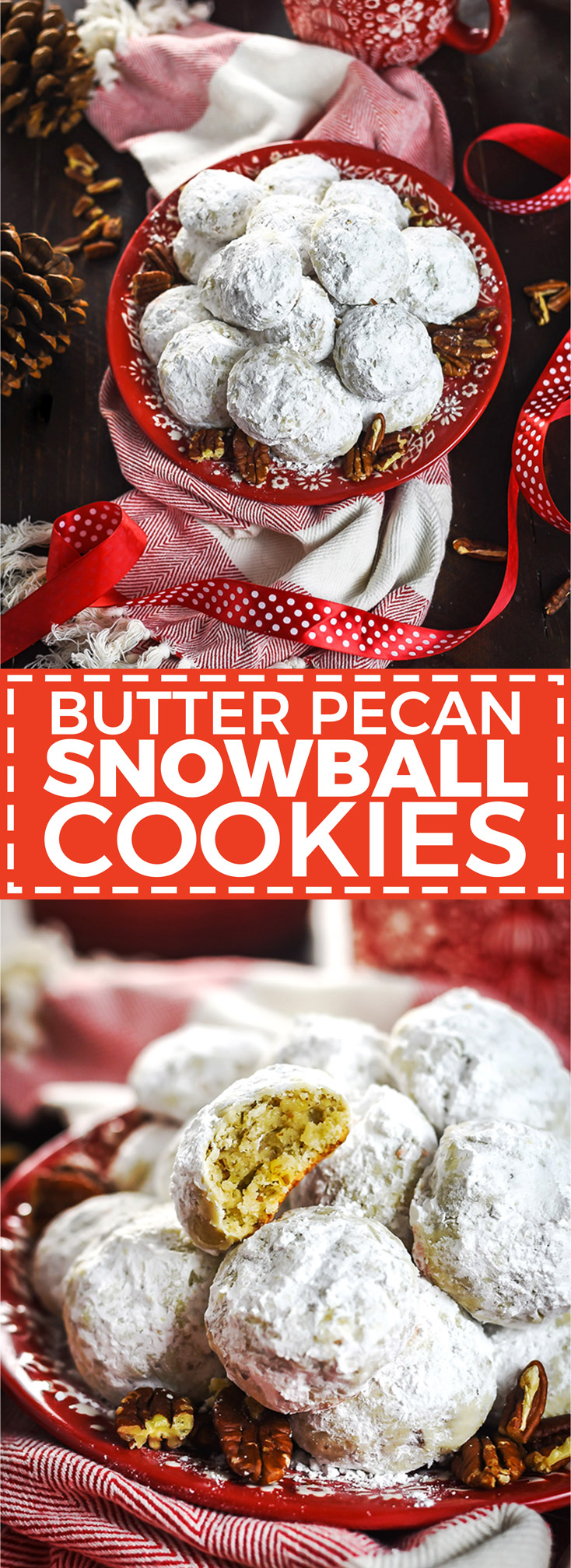 Butter Pecan Snowball Cookies. These tender, tangy, buttery shortbread cookies are loaded with toasted pecans and absolutely perfect for your Christmas cookie platter.   hostthetoast.com