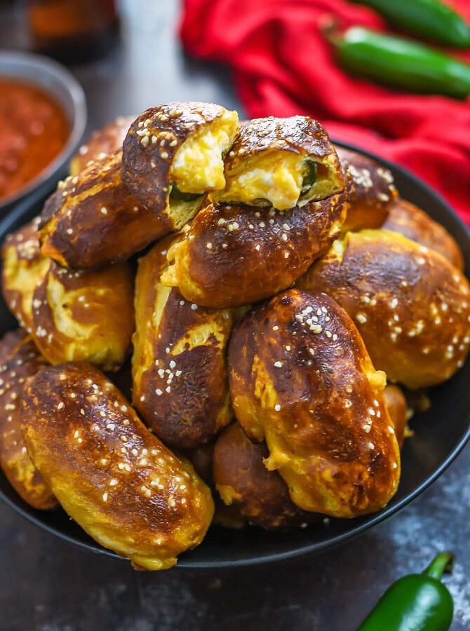 Jalapeño Popper Pretzel Bites