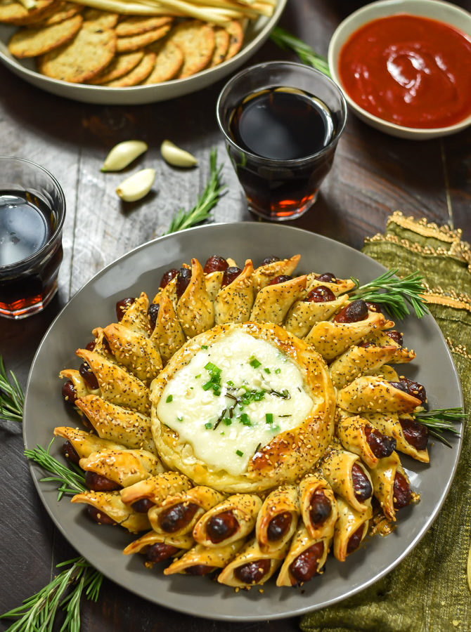 Pigs in a Blanket Baked Brie