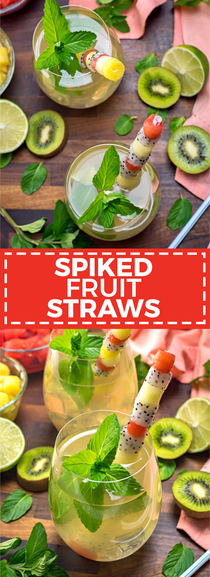 Spiked Fruit Straws. Flavor in the cocktail, meet flavor in the straw. Fresh fruit makes for a delicious and useful garnish! | hostthetoast.com