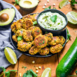 Southwestern Zucchini and Corn Bites with Avocado Ranch