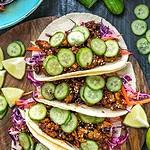 Korean-Inspired Crispy Tofu Tacos