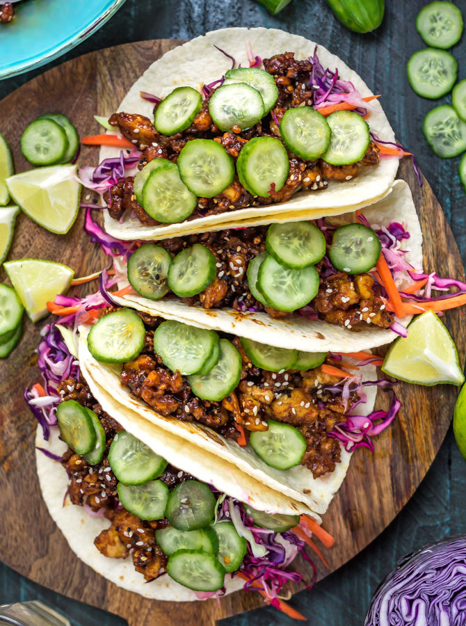 Korean-Inspired Crispy Tofu Tacos