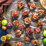 Bacon-Wrapped Figs with Blue Cheese and Bourbon Caramel