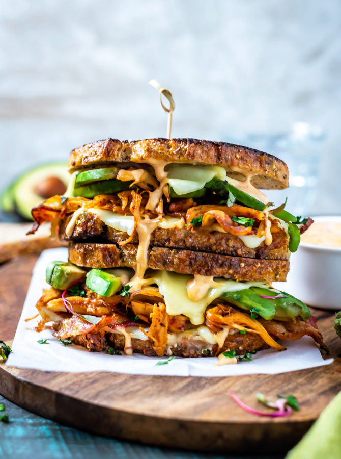 Chipotle Chicken Avocado Melts