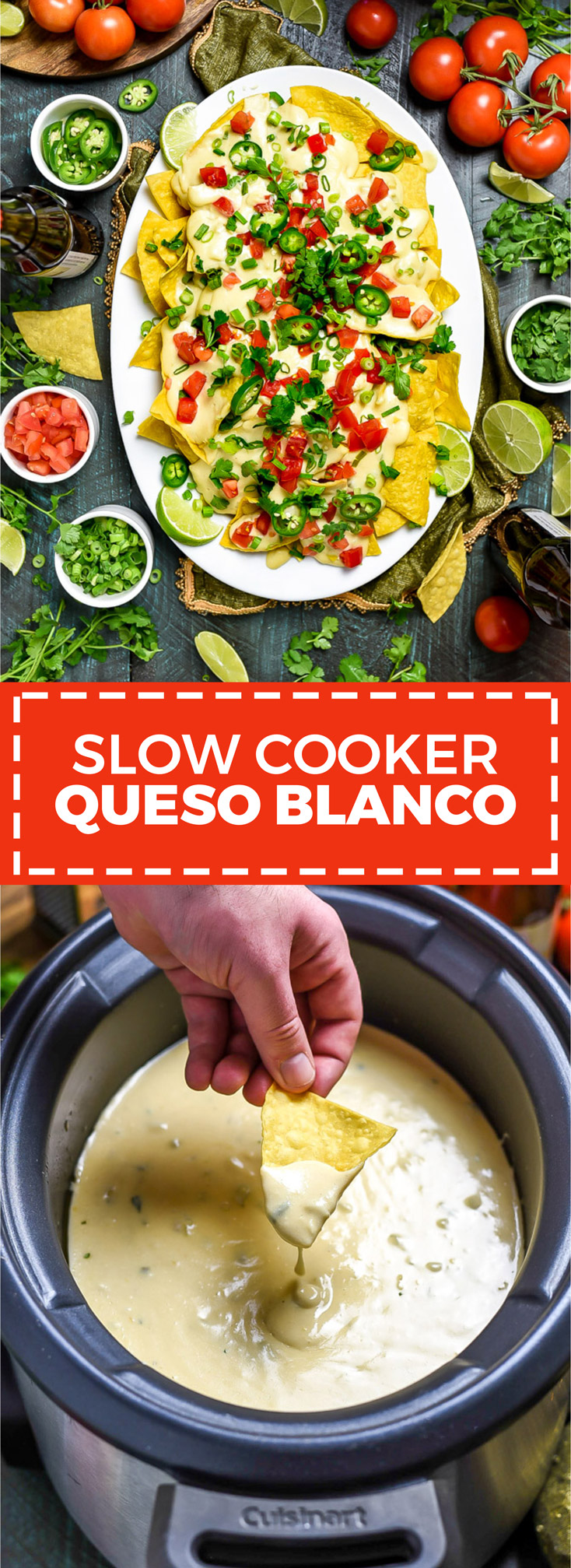 Slow Cooker Queso Blanco. This velvety, rich cheese dip is just as good-- if not better-- than the kind you get from your favorite Mexican restaurant. Serve it straight from the slow cooker (where it will keep warm) at a party, or ladle over nachos. | hostthetoast.com