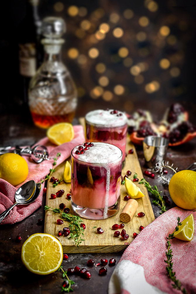 Pomegranate New York Sour. This tart and sweet whiskey cocktail features a red wine float and gorgeously pink, pomegranate-spiked base. It's the perfect cocktail for Valentine's Day, and while it looks impressive and professional, even a cocktail novice can whip it together. | hostthetoast.com