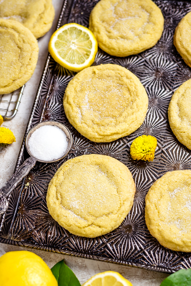A soft, big, buttery, chewy cookie is the key to my heart, and these Soft and Chewy Lemon Sugar Cookies absolutely fit the bill. They're made from scratch and bursting with tart lemony flavor from both lemon zest and real lemon juice! | hostthetoast.com