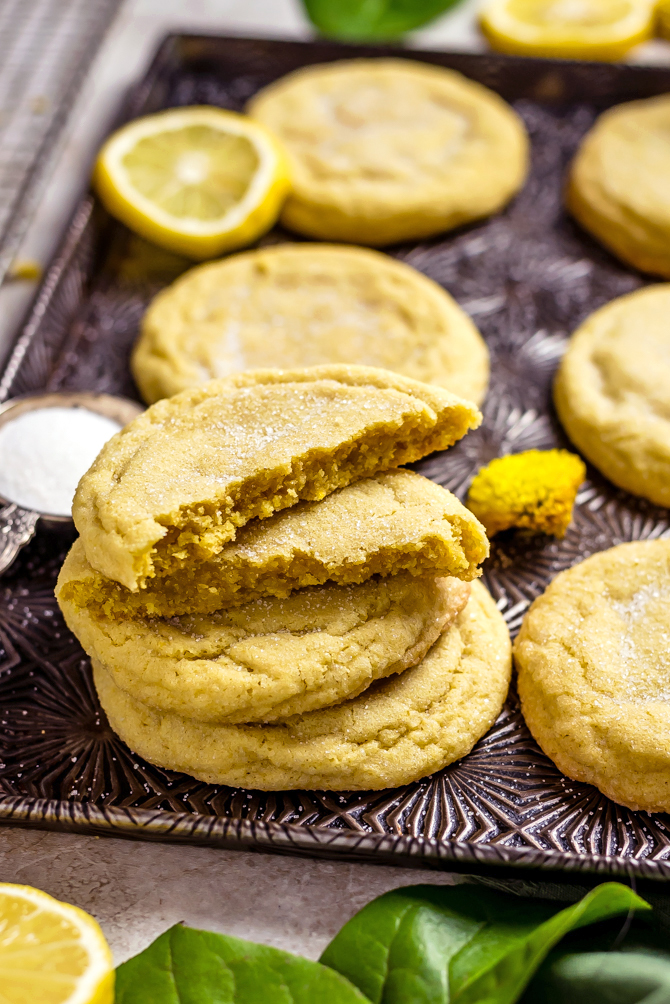 A soft, big, buttery, chewy cookie is the key to my heart, and these Soft and Chewy Lemon Sugar Cookiesabsolutely fit the bill. They're made from scratch and bursting with tart lemony flavor from both lemon zest and real lemon juice! | hostthetoast.com