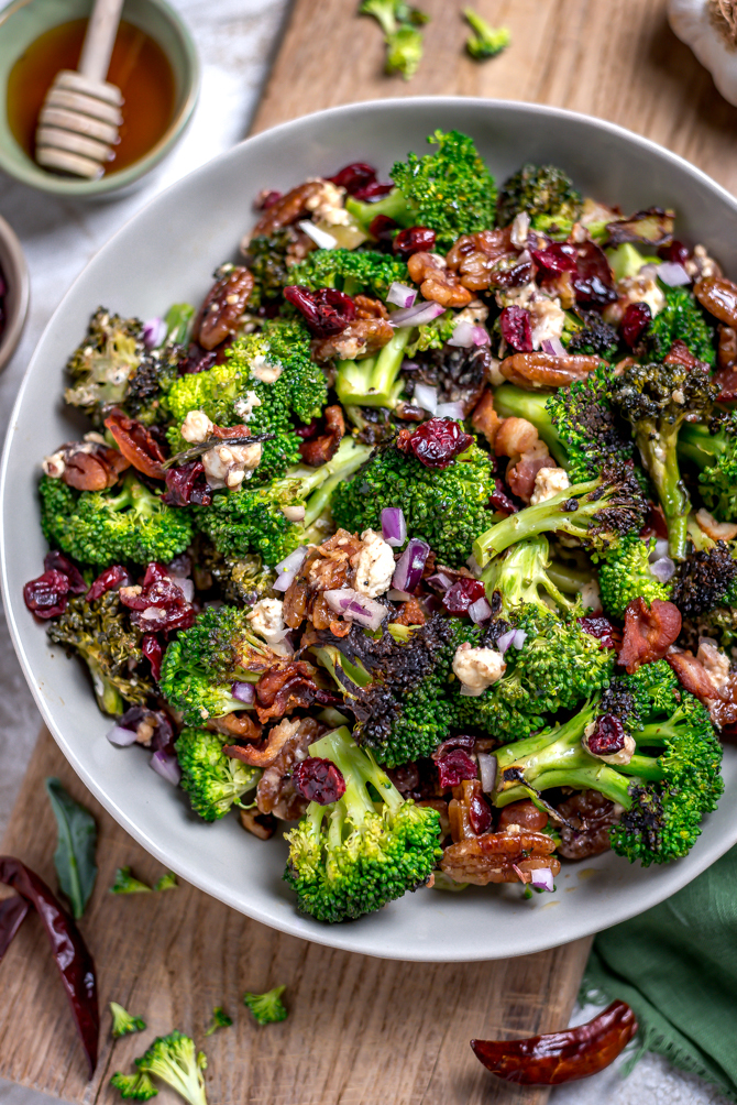 Charred Broccoli Salad With Hot Honey Dressing Host The Toast