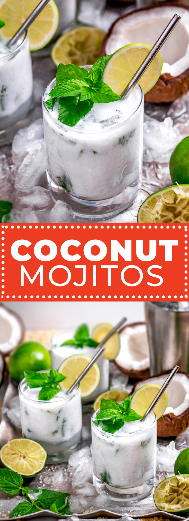 Boat deck or roof deck, there's no better way to sip this summer than enjoying a few Coconut Mojitos. A refreshing mix of rum, lime, and mint mingle with creamy coconut for a cocktail that turns any party into a vacation. | hostthetoast.com