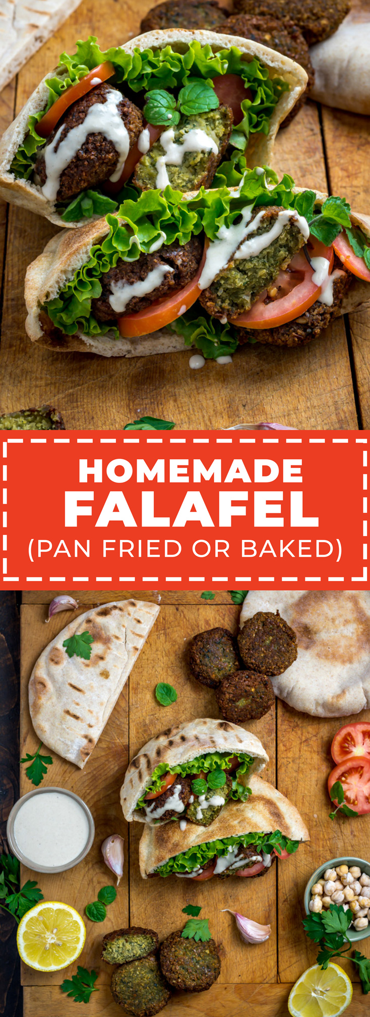 Learn to make Homemade Pan-Fried or Baked Falafel so authentic that your friends will swear you had it flown in from Lebanon. Whichever method you choose, its vibrant fresh herbs, punchy seasoning blend, and crispy-yet-tender will be the star of any sandwich or mezze board. | hostthetoast.com