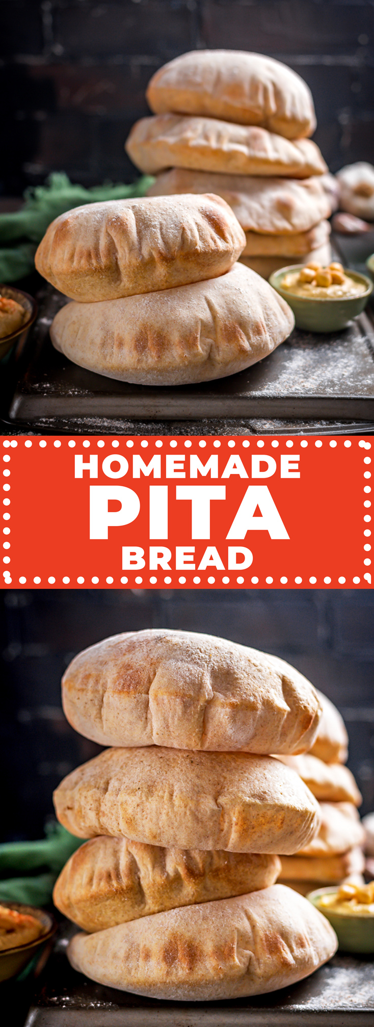 If warm, fluffy, poofed, and perfectly-pocketed pitas are what you're looking for, it doesn't get better than this recipe for Homemade Pita Bread. They're surprisingly simple to make and leagues better than the store-bought stuff! | hostthetoast.com
