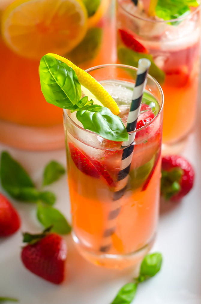 Strawberry Basil Spiked Lemonade. This vodka-spiked cocktail is fruity, refreshing, and perfect for summer. | hostthetoast.com