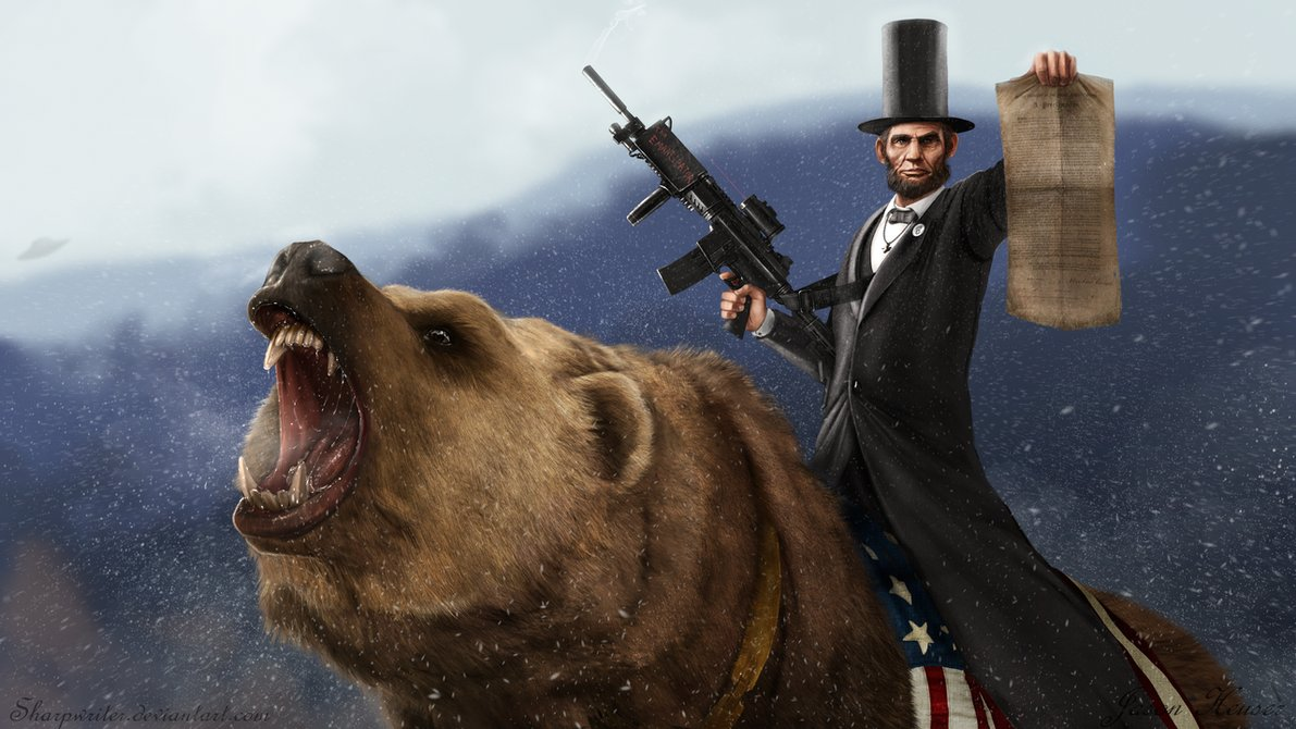 Historically accurate picture of Lincoln.  (Awesome artwork created by Jason Heuser.  Look at his stuff.)