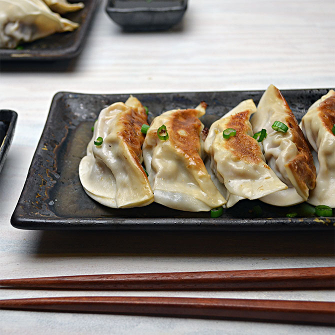 Pork Potstickers With Spicy Dipping Sauce Host The Toast