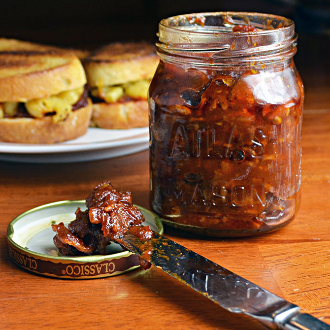 Bacon, Beer, and Tomato Jam
