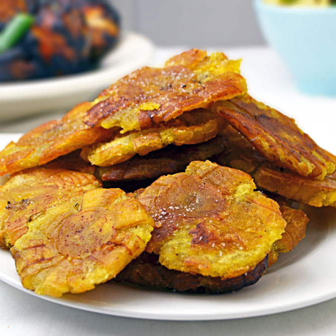 Tostones-  The Latin American / Caribbean version of french fries.  Naturally gluten-free!