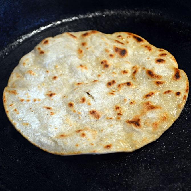 Toasting Tortillas for Tacos Al Pastor