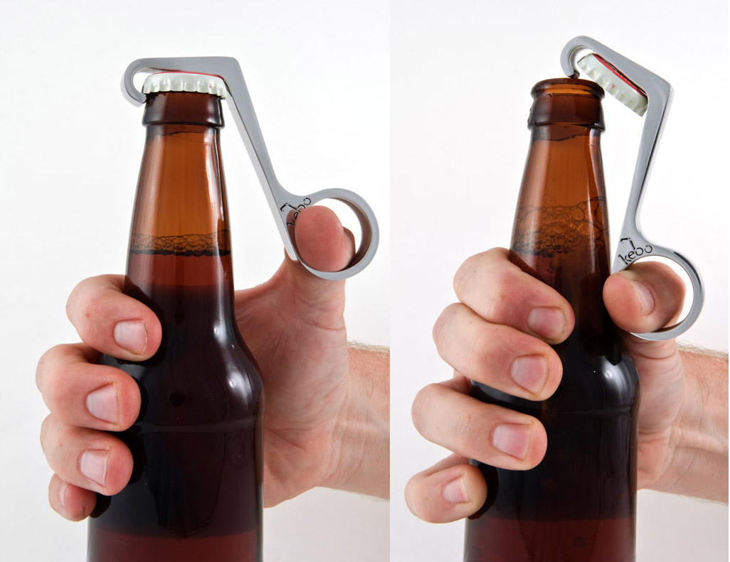 This cool beer tool makes a great accessory to a 6 pack present for Father's Day!  Not only does this Kebo Bottle Opener look trendy, it also easily pops off bottle caps without all of the struggle caused by traditional pry-top openers.  The Kebo Bottle Opener also comes with a keepsake tin, so even storage becomes simple and stylish.  Get one here for $24.99.