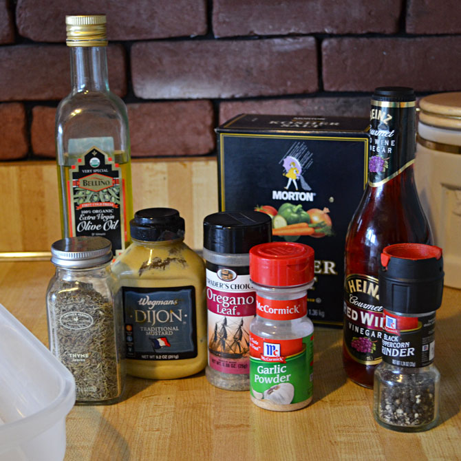 Ingredients for the best chicken marinade ever.