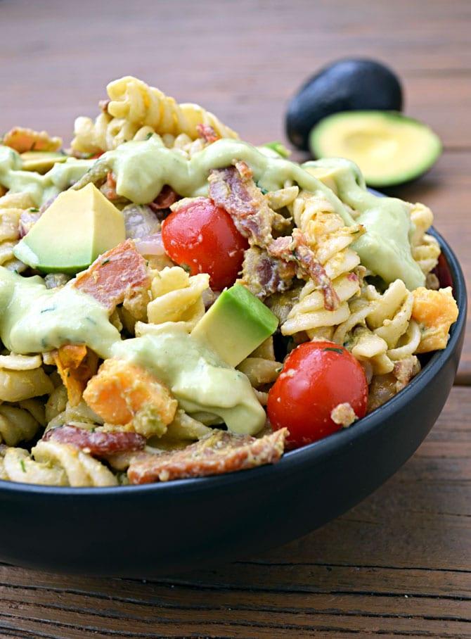 Avocado Bacon Pasta Salad
