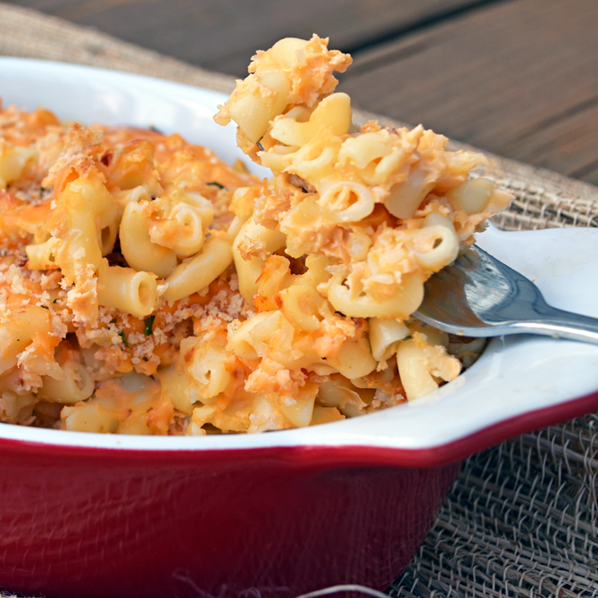 (Secretly Healthy) Macaroni and Cheese.  Can you guess the secret ingredient?