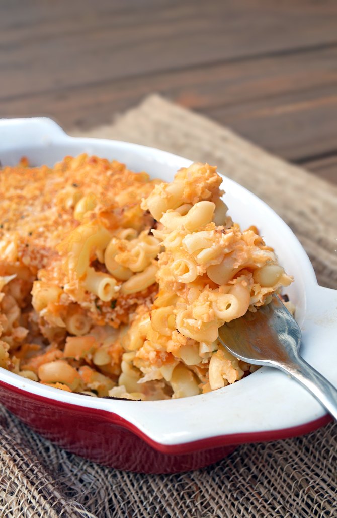 (Secretly Healthy) Mac n Cheese.  Can you guess the secret ingredient?