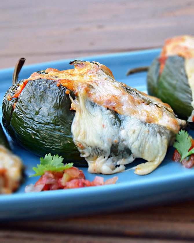 Mexican Stuffed Peppers (Chorizo Stuffed Poblanos)