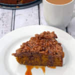 Pumpkin Coffee Cake with Maple Caramel Sauce