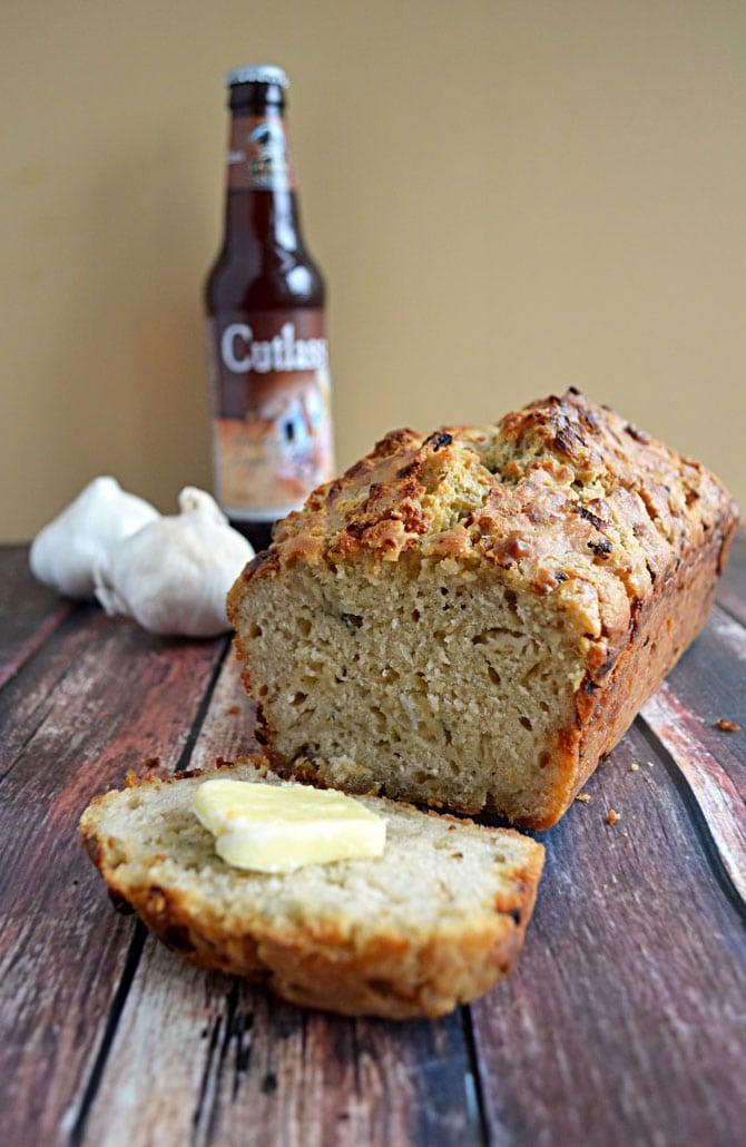Blue Cheese Garlic Beer Bread