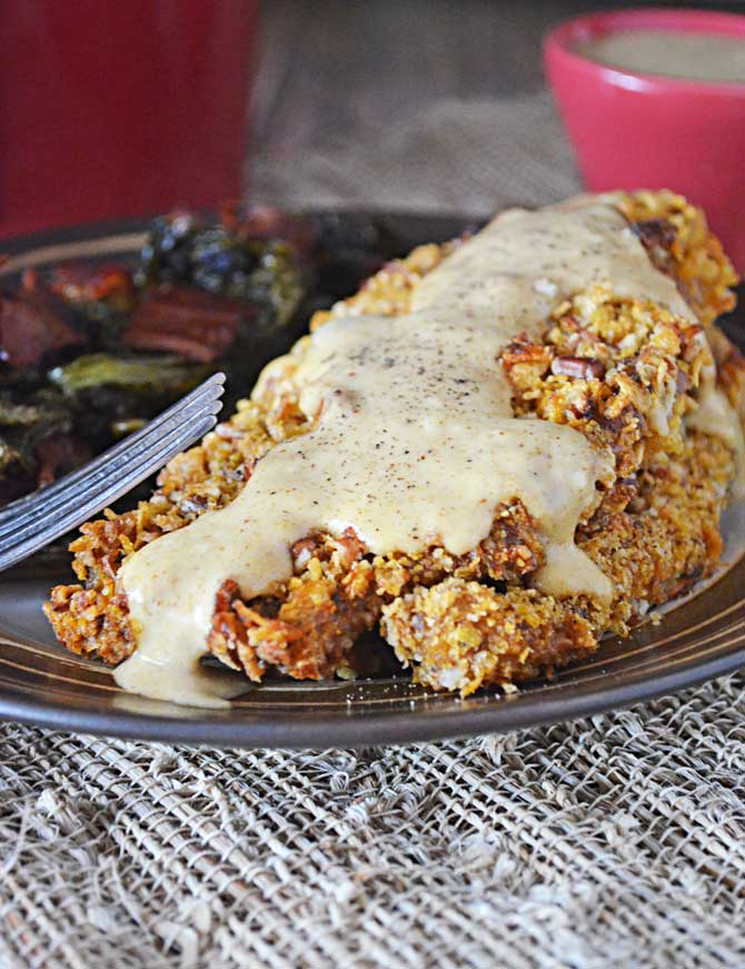 Pecan Crusted Catfish (Baked) with Maple Dijon Sauce